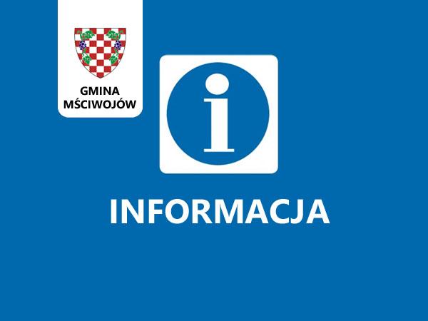 Informacja – Kasa Urzędu nieczynna
